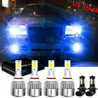 For Chrysler 300 2005 2009 8000K Ice Blue LED Headlight Hi Lo Fog Light Bulbs 6x