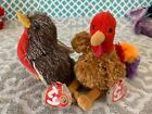 Ty Beanie Babies Of The Month Exclusives: STUFFINGS the Turkey & SERENADE! MWMT