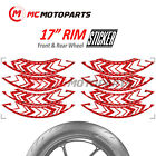 17'' ARROW 8pcs Wheel Stickers For Buell 1125CR X1 S1 Lightning S2 XB12R XB9