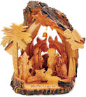 Christmas Nativity Set Carved Olive Wood Hand Made From Bethlehem With Box Gift