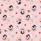 Bthy Disney Classic Princess Forever Snow White Wreath Toile Coral Cotton Fabric