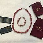 Glass Of Venice Starlight Murano Necklace and Bracelet in Red MADE IN ITALY
