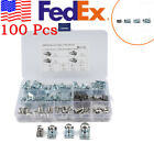 100X Mixed Size Stainless Steel Car SUV Fairing Bodywork Panel Reed U Clips USA