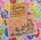 House Mouse Wood Mount Rubber Stamp Party Animals + Darling Phrase Birthday
