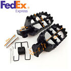 Black Aluminium Motorcycle Foot Pegs Footrest for 50cc 70cc 110cc Honda Yamaha