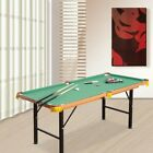 Folding Pool Table Indoor Mini Billiard Game with Accessories Portable 21 Feet