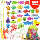 Fishing Game Set For Kids Magnetic Fishing Water Pool Toy For Toddlers Bath Outd