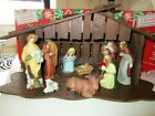 RETROLARGE NATIVITY SCENEWOODENWITH CHINA FIGURESIN UNUSED CONDITION
