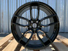 4 Dodge HELLCAT Staggered Wheels Gloss Black 20x95 20x105 Challenger Charger