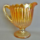 Fenton STIPPLED RAYS Marigold Carnival Glass Creamer 7626