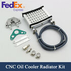 Motorcycle CNC Aluminum Engine Oil Cooler Cooling Radiator Kit F