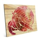 Fiery Watercolor Hermit Crab Glass Wall Art Multi 16 x 20 x 1