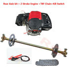 49cc 50cc Engine Motor Kit W Rear Axle Brake Assembly for Go Cart Drift Trike