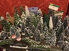 LOT 68 TOTAL Christmas SNOW VILLAGE TREES Cobblestone Corners, LEMAX, MERVYN'S