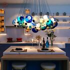 Modern Chic Cluster Pendant Light with Multi color Hand blown Glass Globes Light