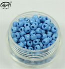 DIY 100 Pcs 4mm lake blue Czech Glass Spacer Loose Beads bracelet Jewelry Making