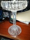 American BRILLIANT CUT GLASS COMPOTE Footed Bowl Hand Cut EXCELLENT Quality