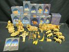 Huge Lot Fontanini Nativity Figures Accessories Animals + 75 Scale Z020