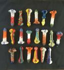4 5 in glass spoon pipes Lot of 20 Heavy Assorted Colors Assorted Shapes