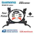 SHIMANO Deore BR M6120 BL M6100 Bike 4 Piston MTB Hydraulic Disc Brake Set OE