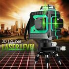 122 Line Laser Level Green Self Leveling 3d 360 Rotary Cross Measure Tool Kit