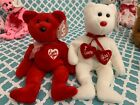 TY Beanie Babies: TRULY & SECRET The Valentines Day Bears! MWMT!