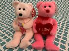 TY Beanie Babies: ADORE the Valentines Day Bear & DEAR Mothers Day Bear! MWMT!