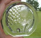 Vintage Italian Glass Clear Paperweight ELEPHANT Design Made Italy Foil Label