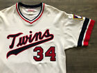 Authentic Mitchell and Ness M&N 1984 Minnesota Twins Kirby Puckett Jersey L RARE