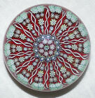 3 1 8 Perthshire 14 Spoke Radial Styled Millefiori Paperweight Center P Cane
