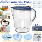 Water Filter Pitcher Filtration System15 Cup Jug 3 Stage Cartridge 100BPA Free