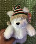 Ty Beanie Baby Chillingsly White Bear Christmas Holiday Hat Stuffed Animal 2006
