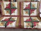 Log Cabin Lap Quilt Top  LS 024 Made in FL