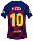 Lionel Messi Signed Nike FC Barcelona Soccer Jersey Icons Messi LOA