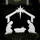 Teak Isle Outdoor Nativity Scene Holy Family Yard Nativity Set