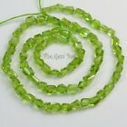 Arizona Apple Green Peridot faceted Freeform Nugget Beads 185 inch Strand