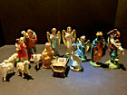 Vintage Paper Mache 14 Piece Nativity Set Most Pieces Made in Italy