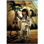 5D Diamond Painting Native Indian Girl Embroidery Beads Cross Stitch Home Decors