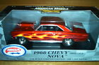 RARE ERTL 1 18 1966 Chevy Pro Stock Nova Candy Red Flamed ISCA 1