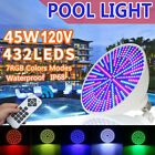 RGB Color Changing Swimming Pool Light Underwater 120V 45W LED Pool Light Bulb