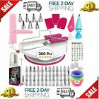 200 Set Cake Decorating Kit Supplies Pieces Kit Baking Tools Turntable Stand Pen