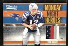 TOM BRADY 2010 Panini Classics MONDAY NIGHT HEROES PRIME 4-COLOR LOGO PATCH # 50