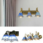 Tiffany Style Blue Stained Glass Wall Sconce Light Room Lamp Mirror Wall Fixture