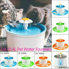 Automatic Electric Pet Cat Dog Drinking Fountain Water Dispenser Bowl Filter