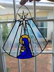 Nativity Stained glass suncatcher handmade by Texas Artist