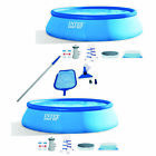Inflatable Above Ground Swimming Pool 2 Pack Bundled w Maintenance Kit