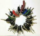 64 Heavy Construction Equipment Ignition Key Set Cat Case JD Komatsu JCB Kubota+