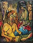 Modernist ABSTRACT Painting Expressionist Nude FIGURE Modern Art BIRTH OF FOLTZ