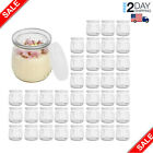 7 OZ Glass Jar 40 Pack Yogurt Pudding Jars with PE Lids New