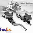 Universal 7 8 Motorcycle Hydraulic Brake Clutch Master Cylinder Reservoir Lever